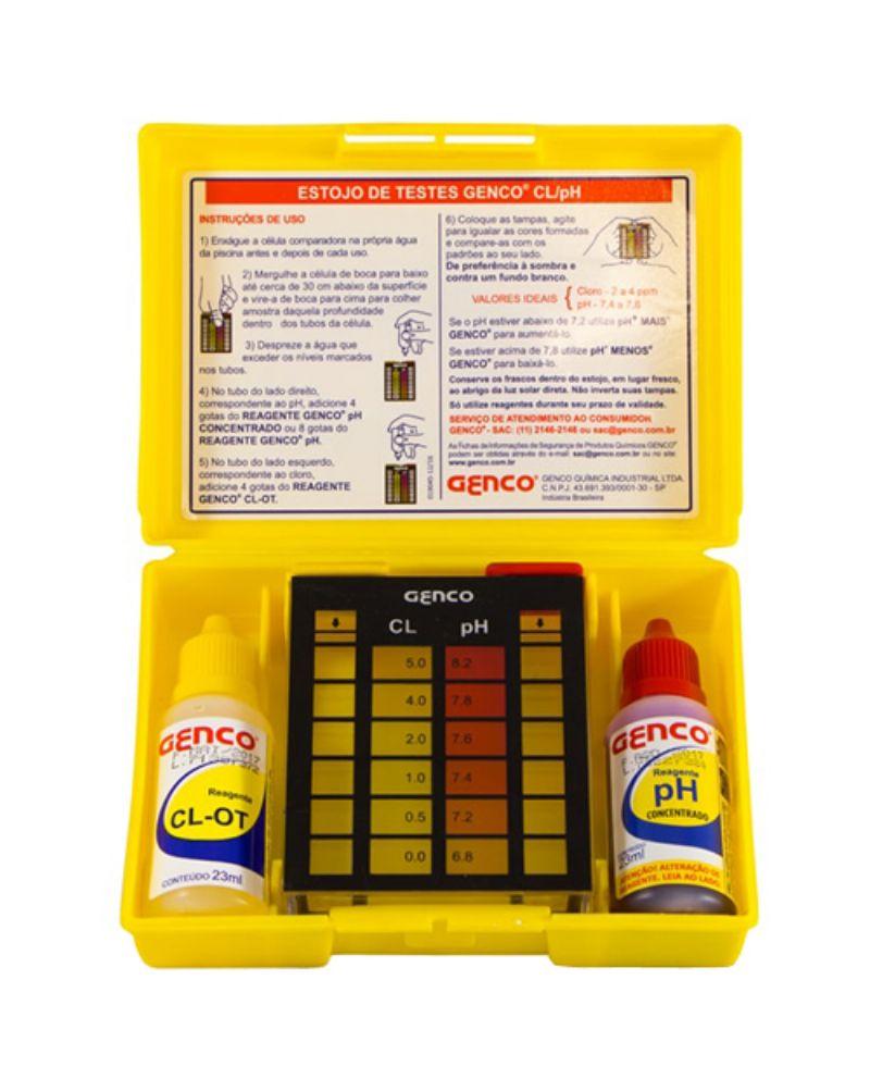 Kit de Testes Cloro e pH - GENCO - Cl/pH