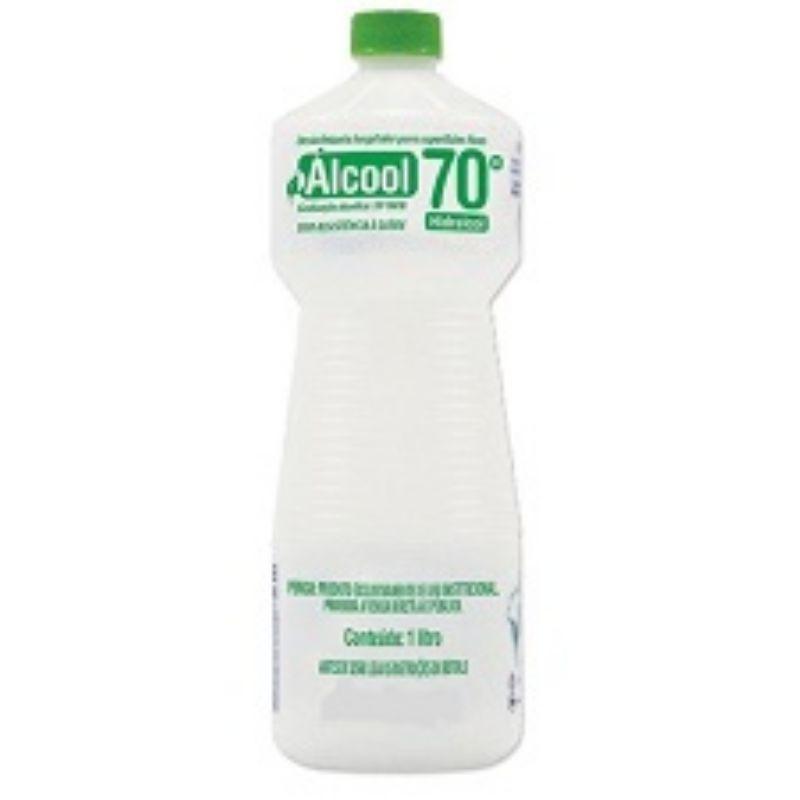 Álcool Líquido 70% 1L