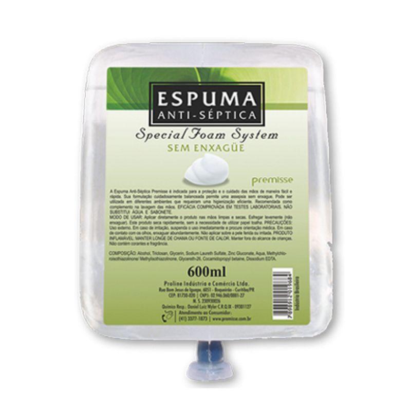Álcool Espuma Antisséptica 600 Ml - PREMISSE